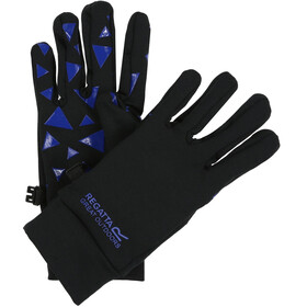 Regatta Grippy Gloves Kids Black/Oxford Blue